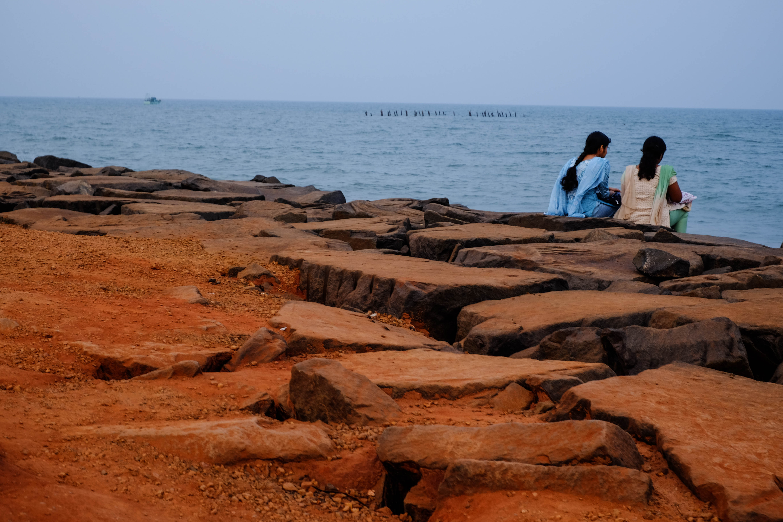 Photographie du front de mer à Pondichéry