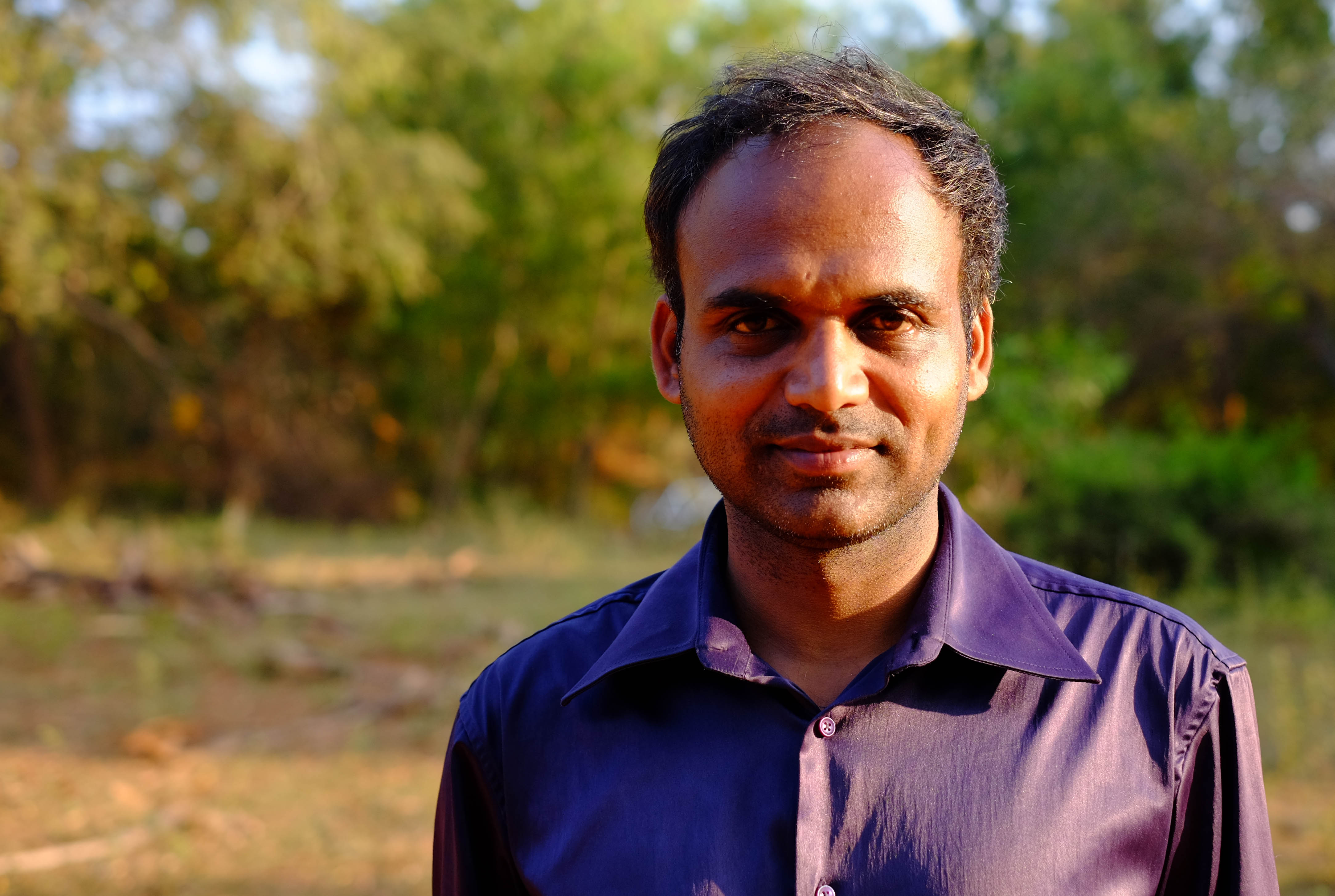 Photographie de Prakash, un indien rencontré à Pondichéry