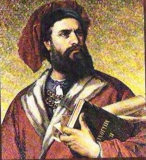 Peinture de Marco Polo, grand voyageur