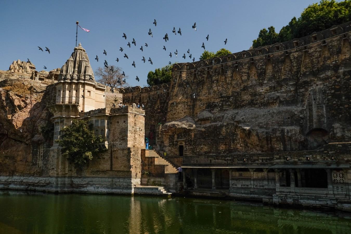 le réservoir du fort de Chittorgarh