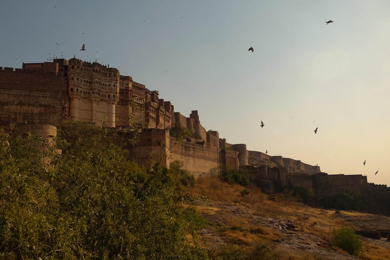 Jodhpur, le fort et le palais au lever du soleil