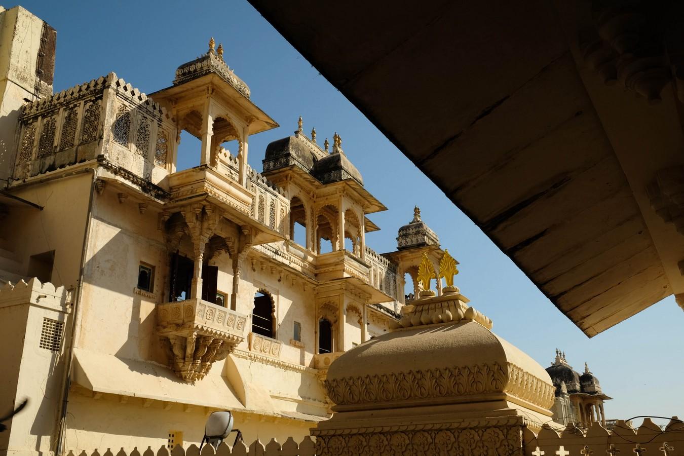 A l'intérieur du palais d'Udaipur