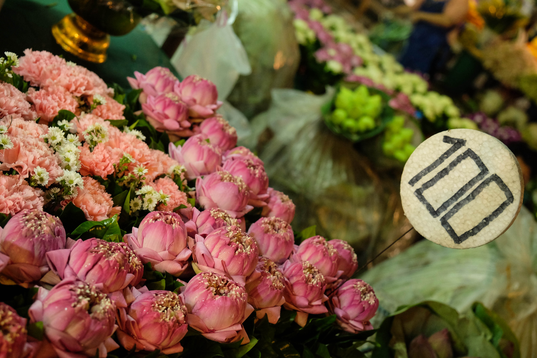 Marché aux fleurs de Bangkok