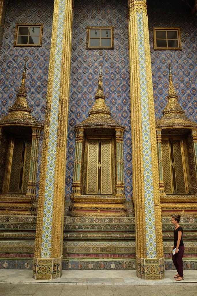 Détail d'un palais à Bangkok