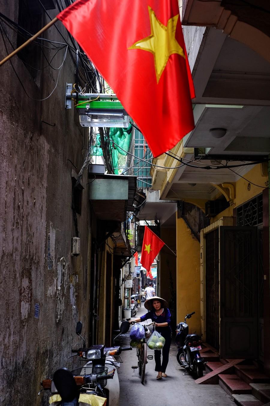 Les allées d'Hanoi au Vietnam