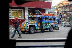 Jeepney à Sagada aux Philippines.