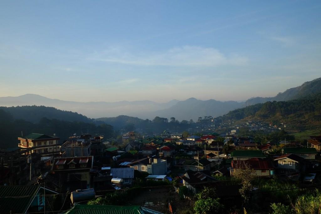 Vue sur Sagada et la Cordillera aux Philippines.