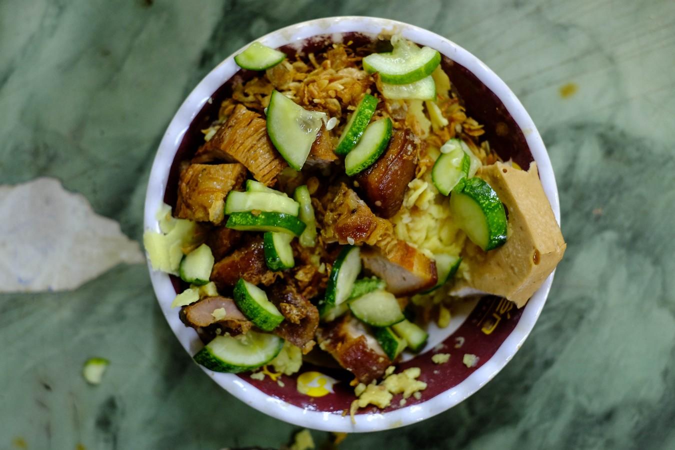 Bol de sticky rice Xoi Yen a Hanoï.