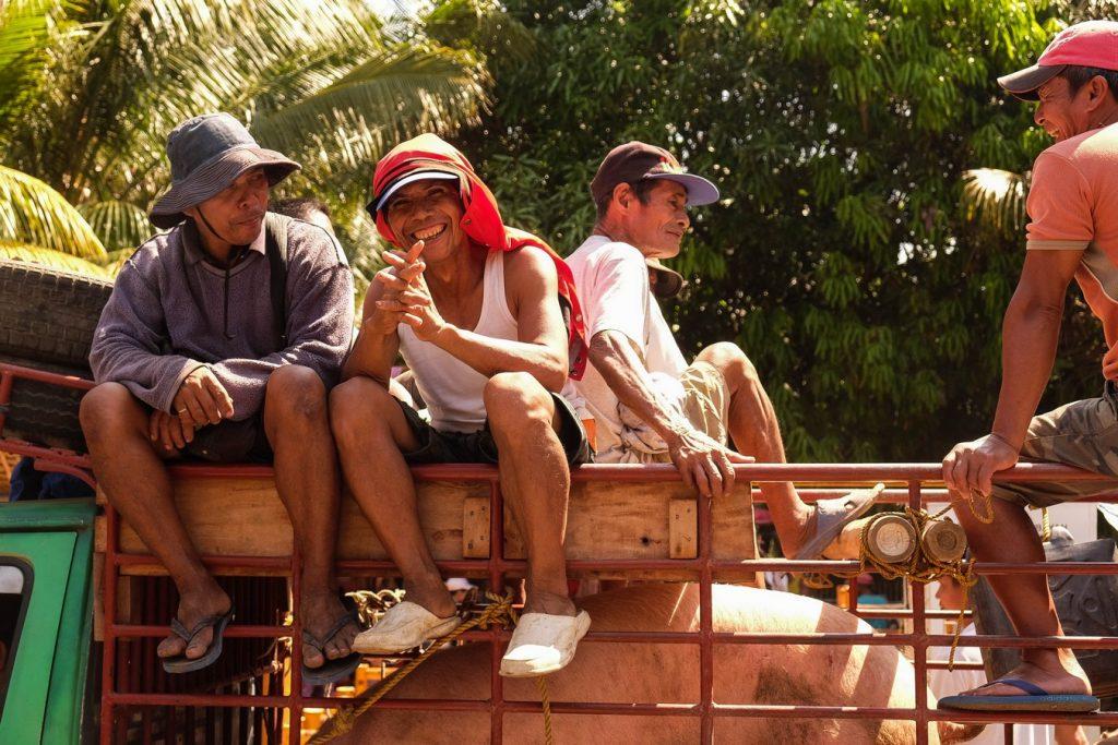 Sourires philippins à Malatapay à Negros aux Philippines