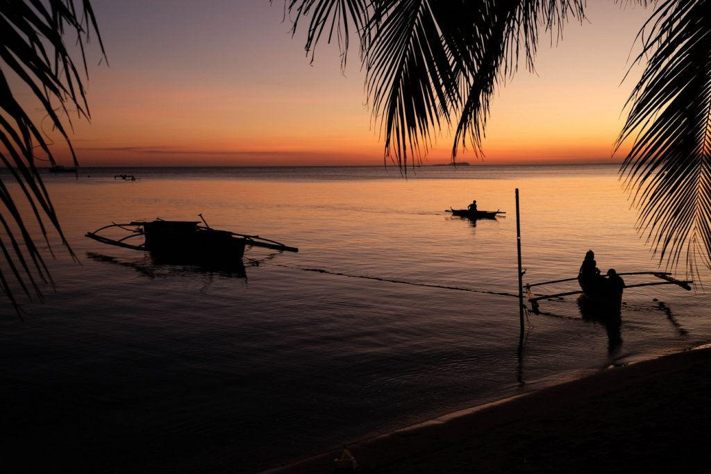 Coucher de soleil à Siquijor aux Philippines