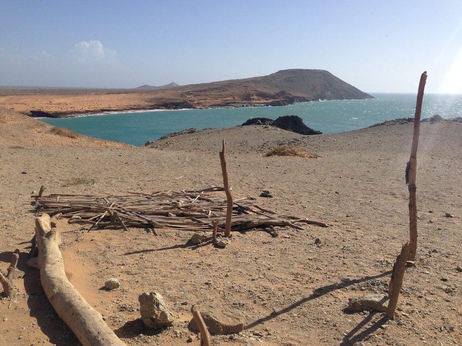 A Cabo de la Vela dans la Guajira en Colombie, le désert se jette directement dans la mer.