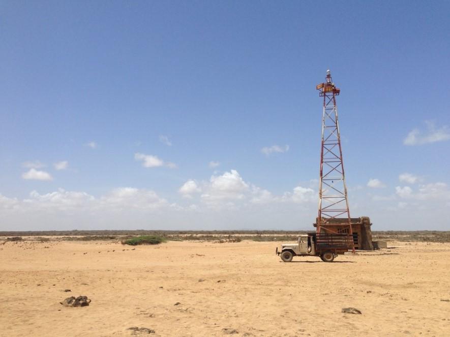 Le phare rustique de Punta Gallinas dans la Guajira en Colombie.
