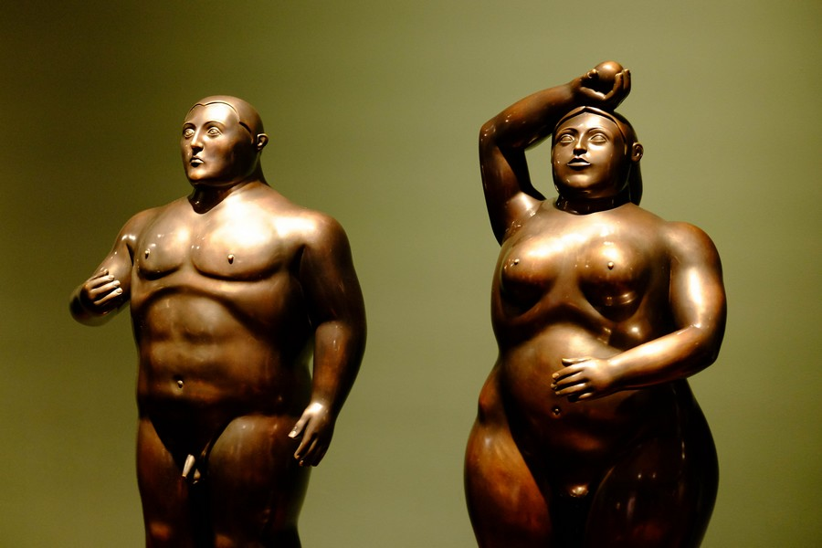 Adam et Eve au musée Botero de Medellin.