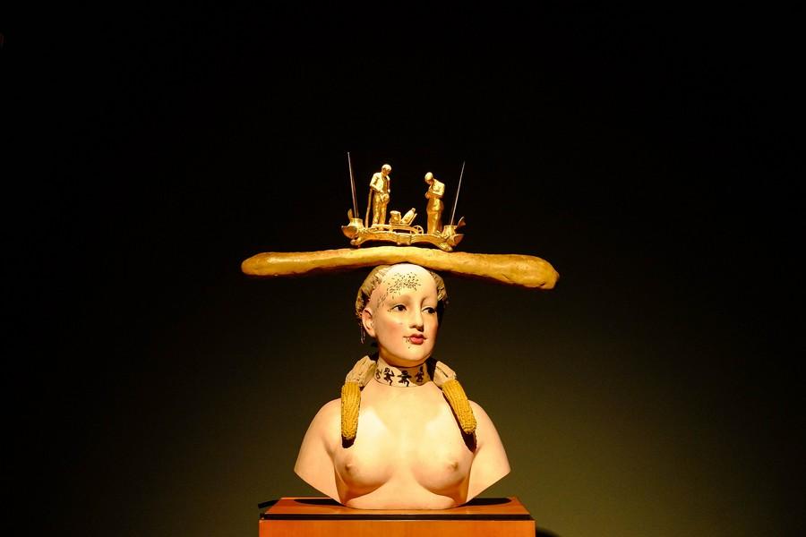 Busto retrospectivo de mujer, Salvador Dali, Bogota, Colombie