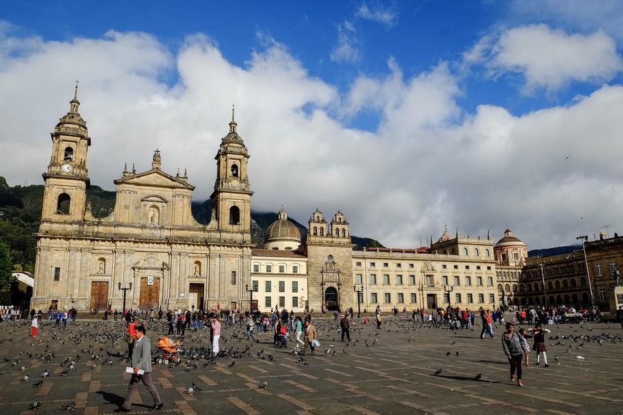 La Plaza de Bolivar à Bogota, Colombie