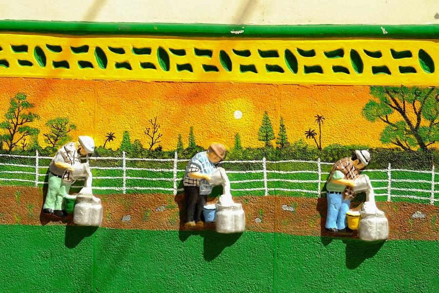 fresque murale à Guatape, Colombie