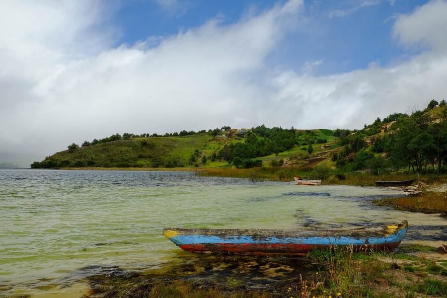 Le lago de Tota et ses eaux turquoise, Boyaca, Colombie