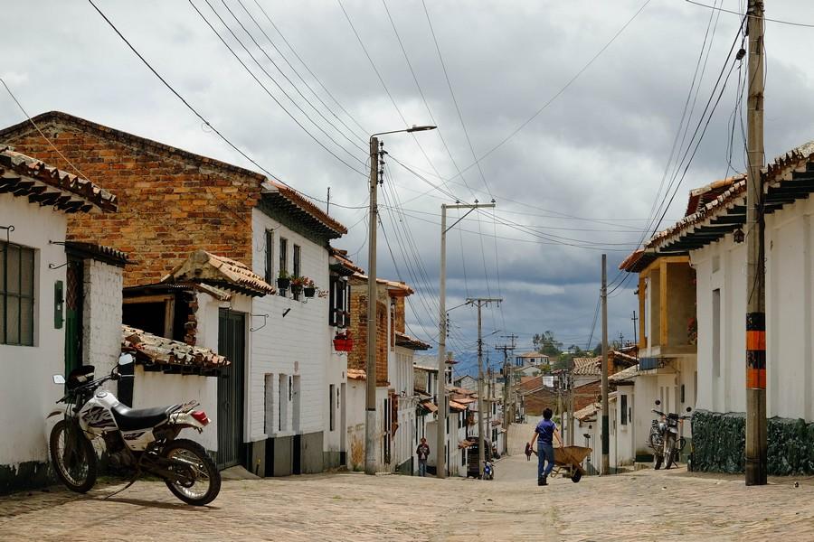 Le village de Mongui en Colombie, dans la région de Boyaca