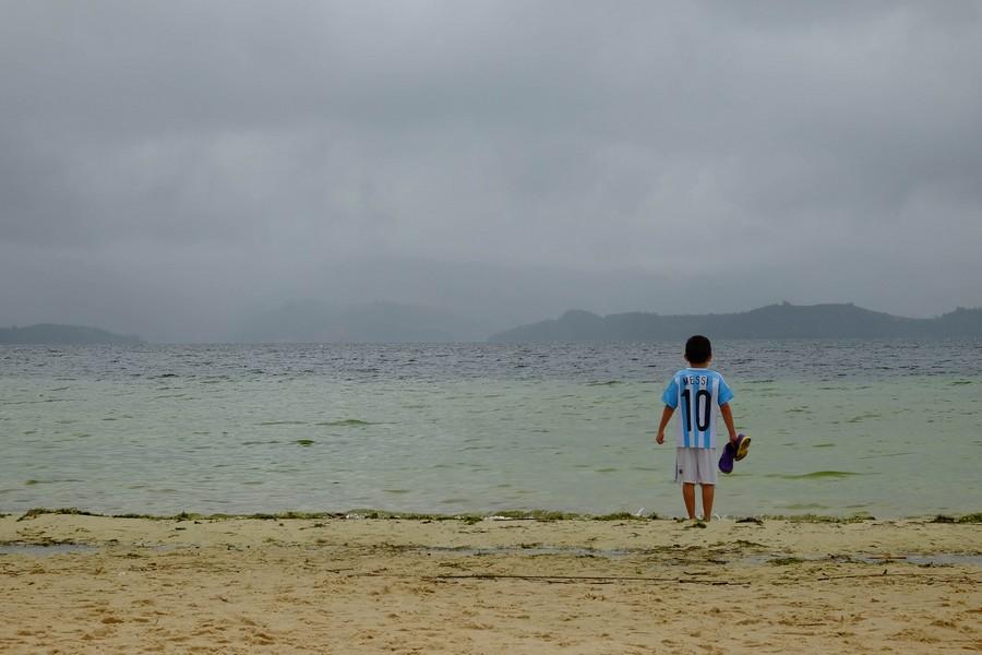 La playa blanca du lago de Tota en Boyaca, Colombie
