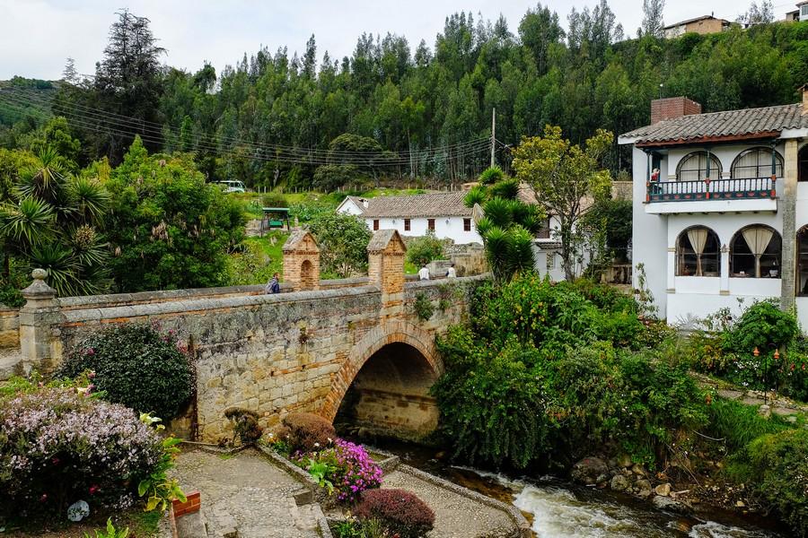 Le pont de Mongui dans la région de Boyaca en Colombie