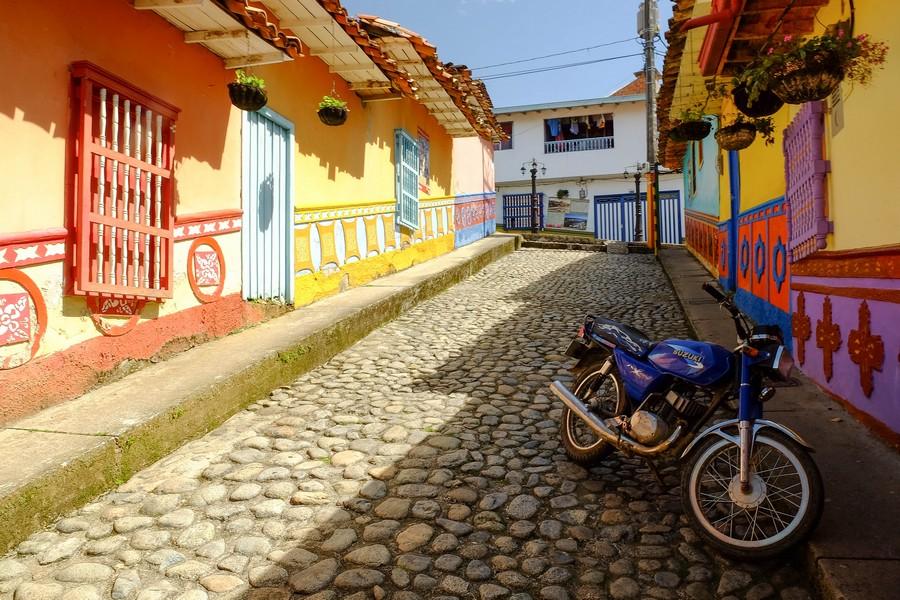 Les rues colorées de Guatape, Colombie