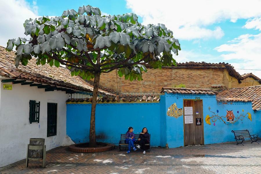 La place de Chorro De Quevedo à Bogota, une ville parfois dangereuse.