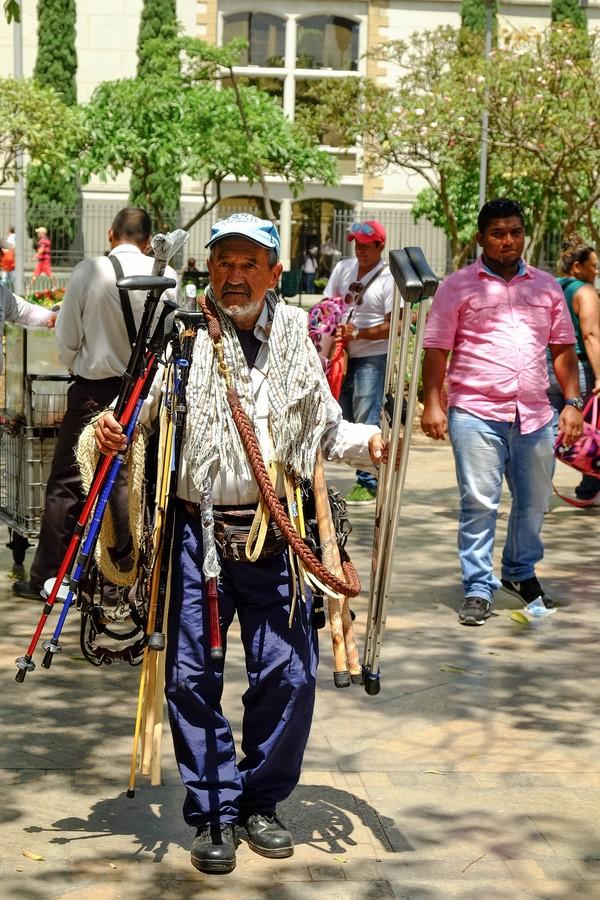 Vendeur de rue à Medellin