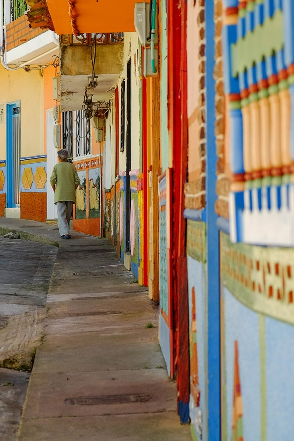 Les ruelles colorées de Guatape, en Colombie