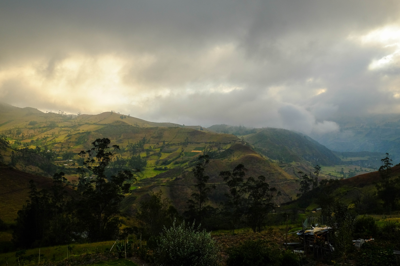 Vue depuis Isinlivi, Equateur