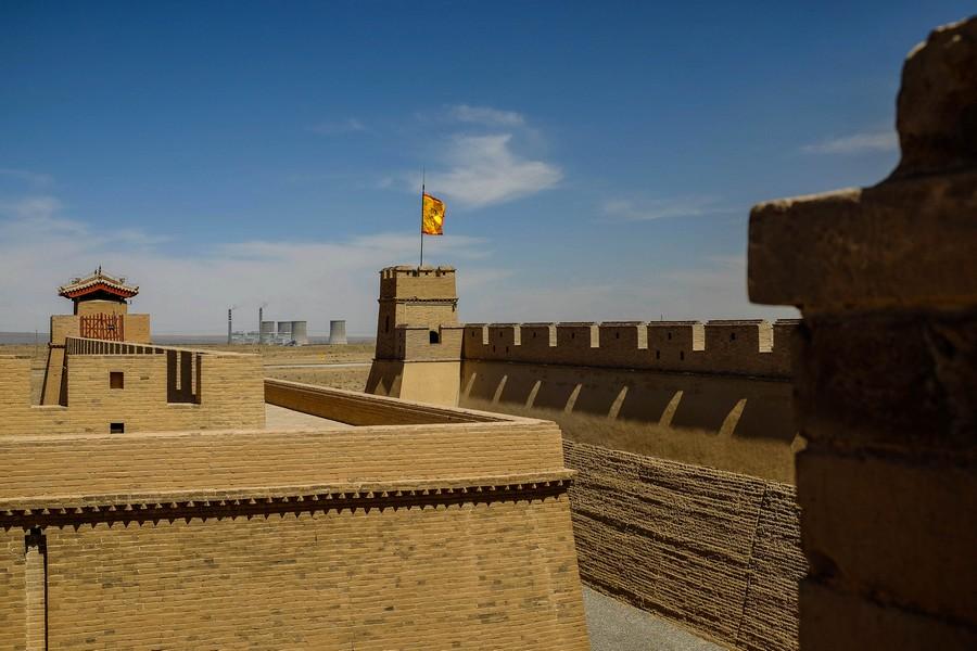 La forteresse de Jiayuguan, en Chine.