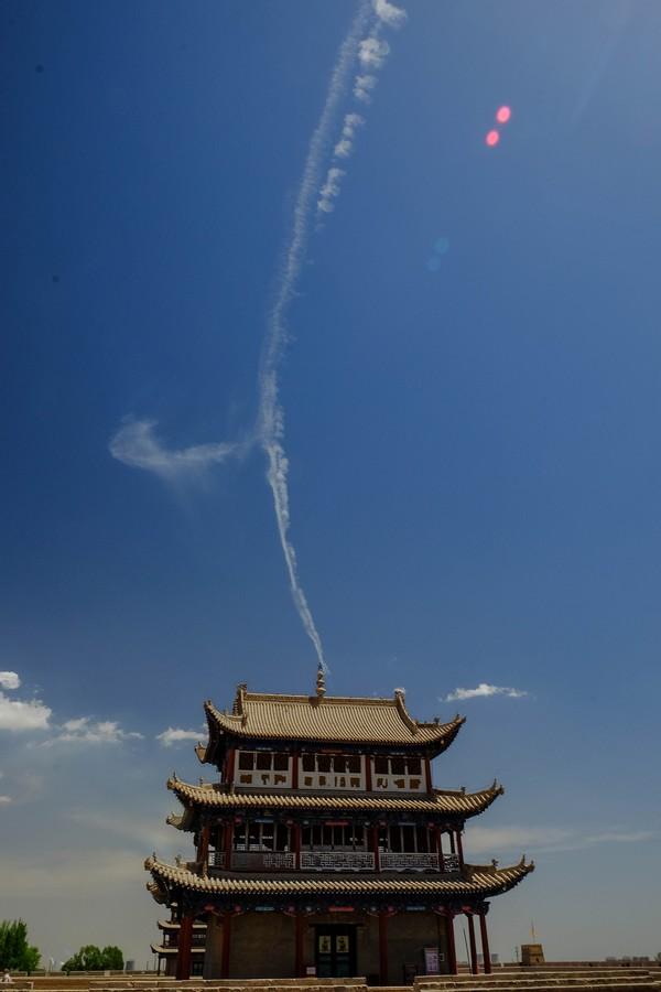 Pagode du fort de Jiayuguan, Chine.