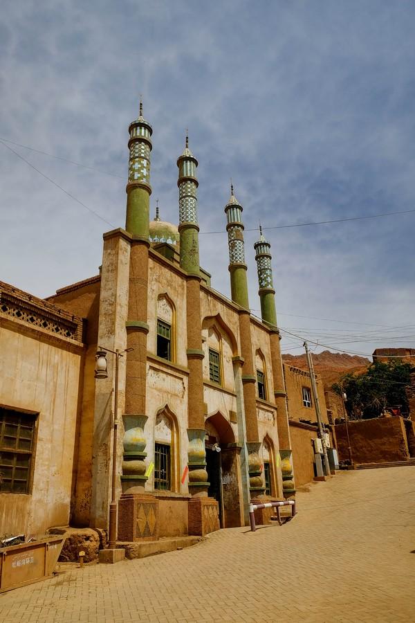 Mosquée du village de Tuyoc, Xinjiang, Chine.