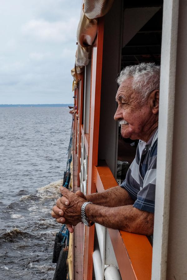 Sur le bateau Manaus - Santarem, au Brésil.