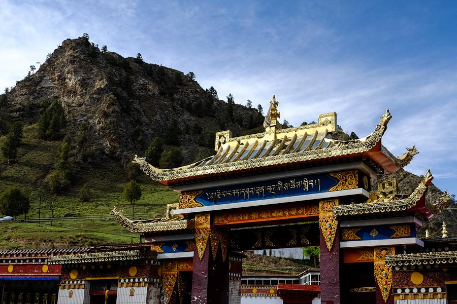 Monastère isolé dans la région de Tongren, au Tibet Chinois, l'Amdo.