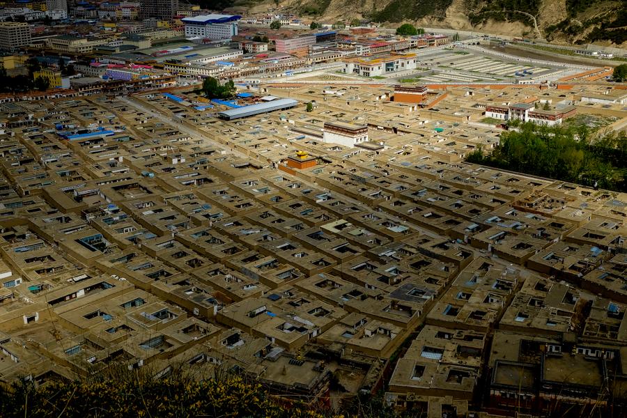 L'immense monastère de Labrang, Tibet Chinois, Amdo.