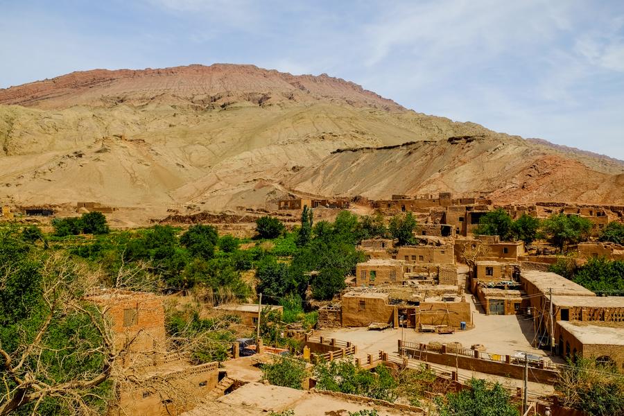 Le village Ouïghour de Tuyoq, en Chine.