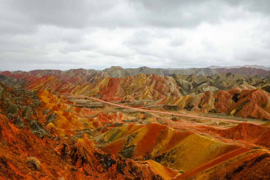 Les rainbow mountains à Zhangye Danxia, en Chine.