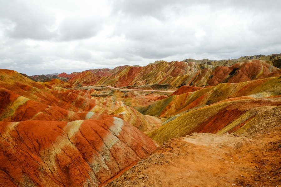 Les montagnes colorées de Zhangye Danxia, dans le Gansu, en Chine.