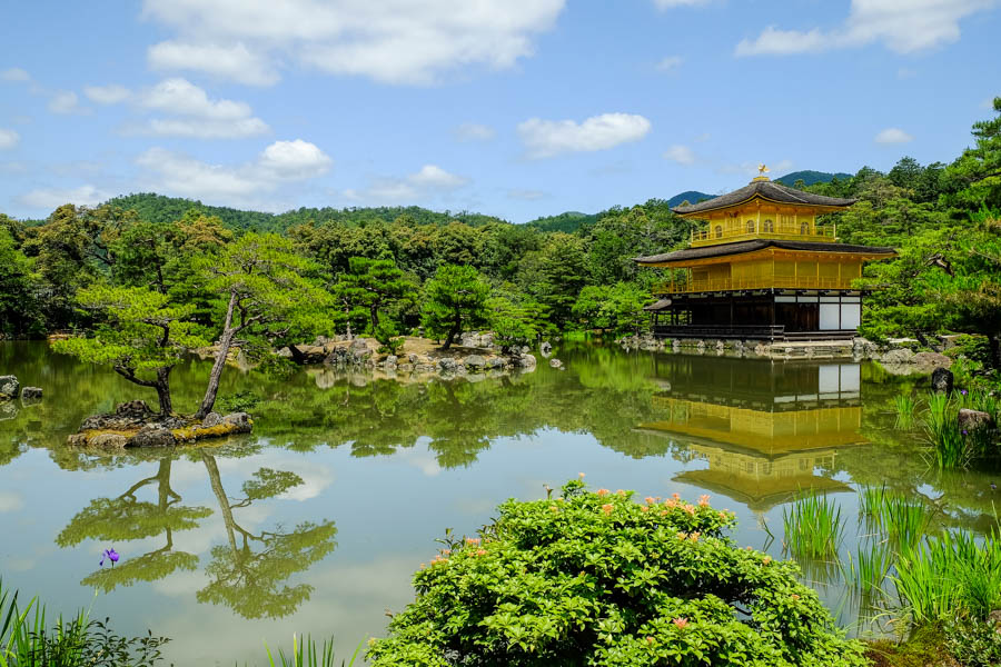 Le pavillon d'or, à Kyoto, au Japon.