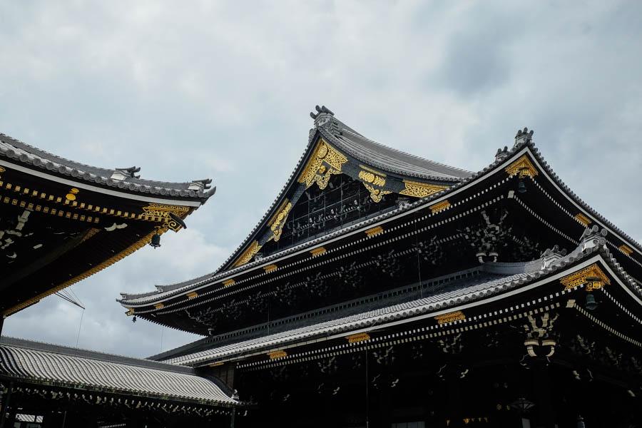 Temple de Nishi Onganji, à Kyoto, au Japon.