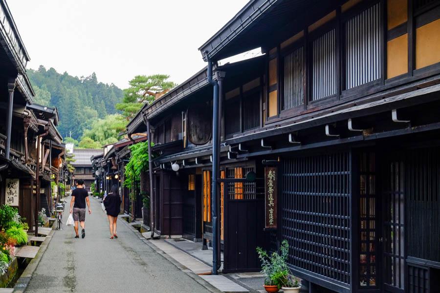 Rue traditionnelle de Takayama, au Japon.