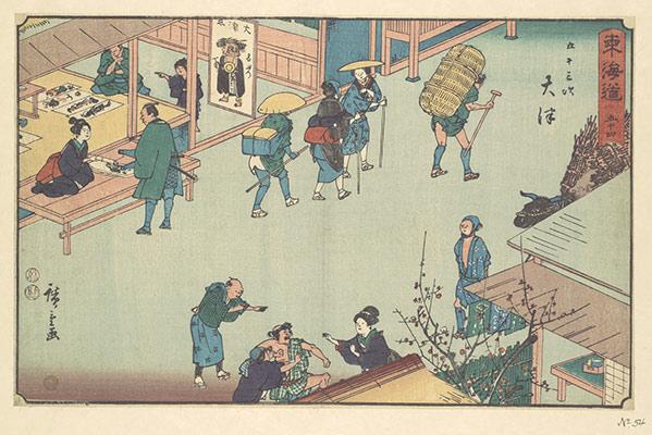 Estampe Japonaise au Amuse Museum, à Tokyo.