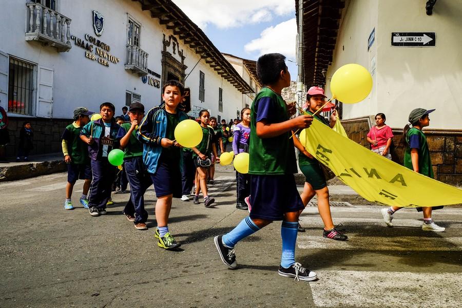 Défilé à Cajamarca, Perou.