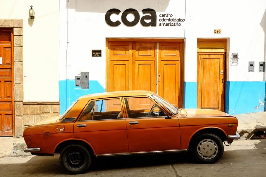 Rues colorées de Cajamarca, Perou.