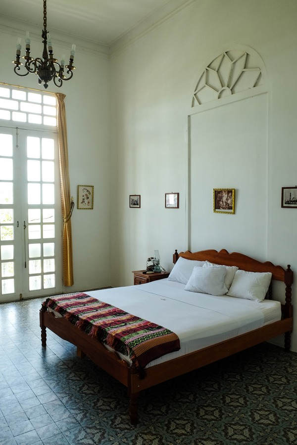 Chambre de la Casa Morey, Iquitos, Pérou.