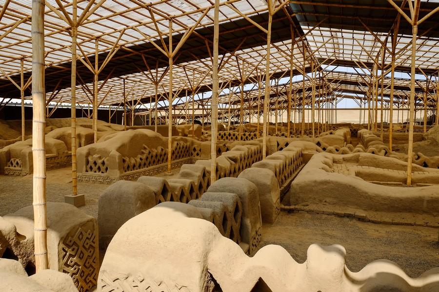 Site archéologique de Chan Chan, au Perou.