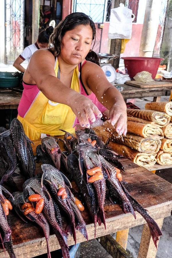 Poissons du marché de Belen, Iquitos.