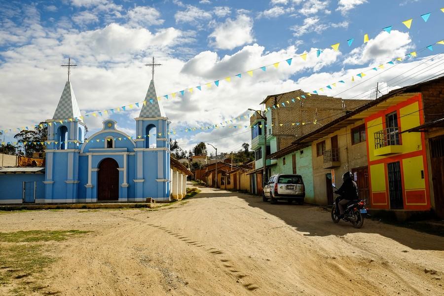 Les rues de Celendin, Perou.