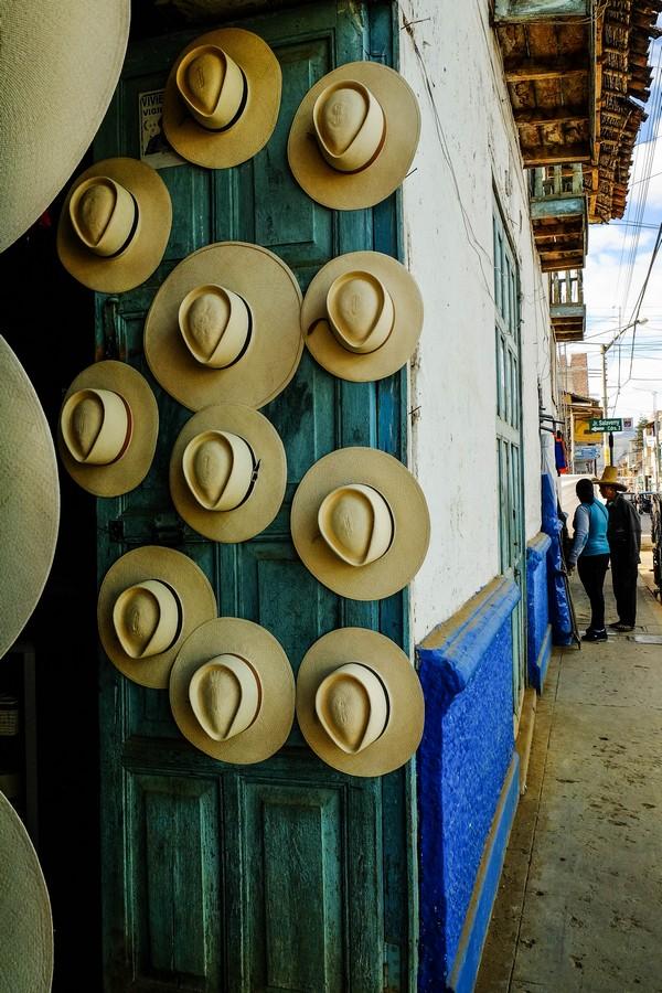 Chapeaux traditionnels à Celendin.