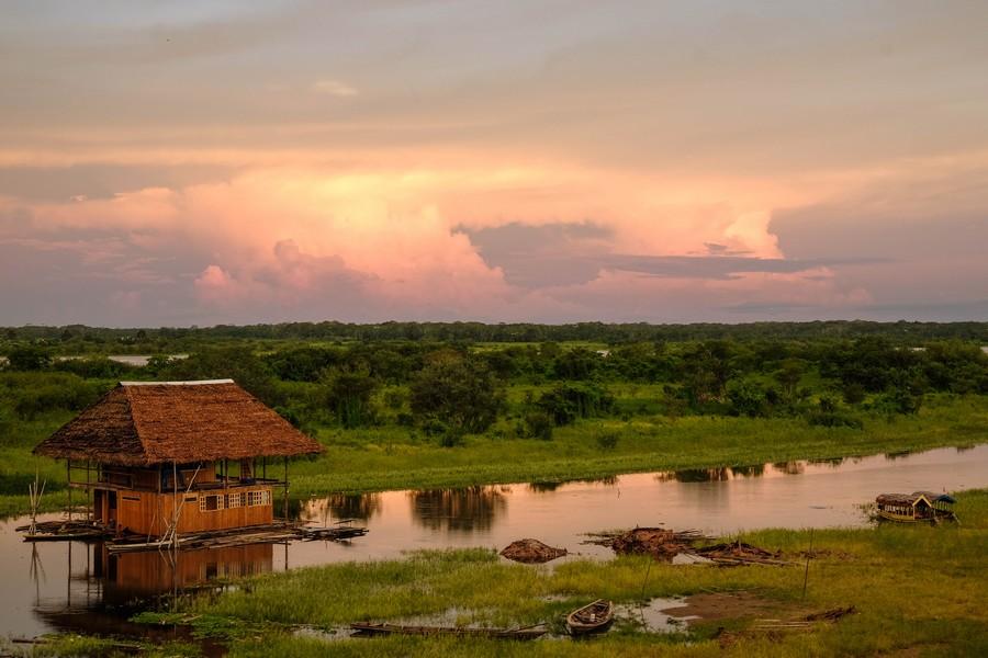 Coucher de soleil sur l'Amazonie, Iquitos